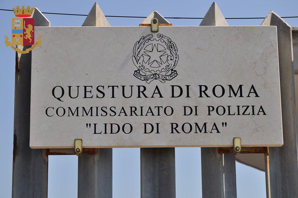 targa distretto polizia lido di roma