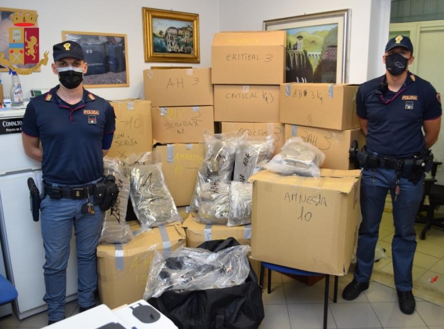 Roma. Sequestrati dalla Polizia di Stato oltre 120 kg. di droga, era nascosta in un deposito giudiziario