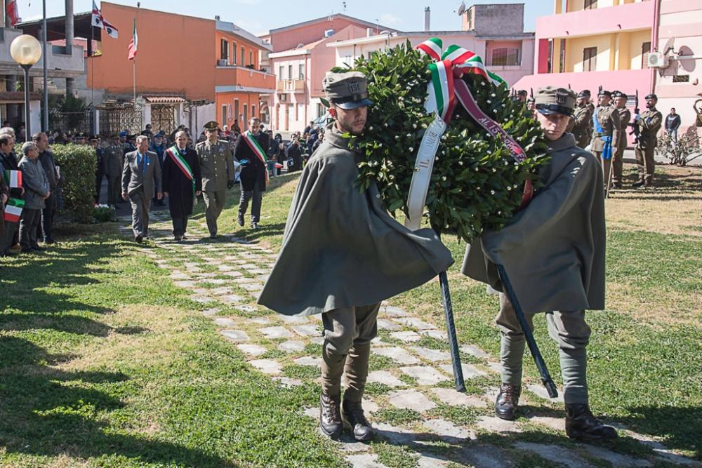 immagine celebrazione brigata sassari a sinnai
