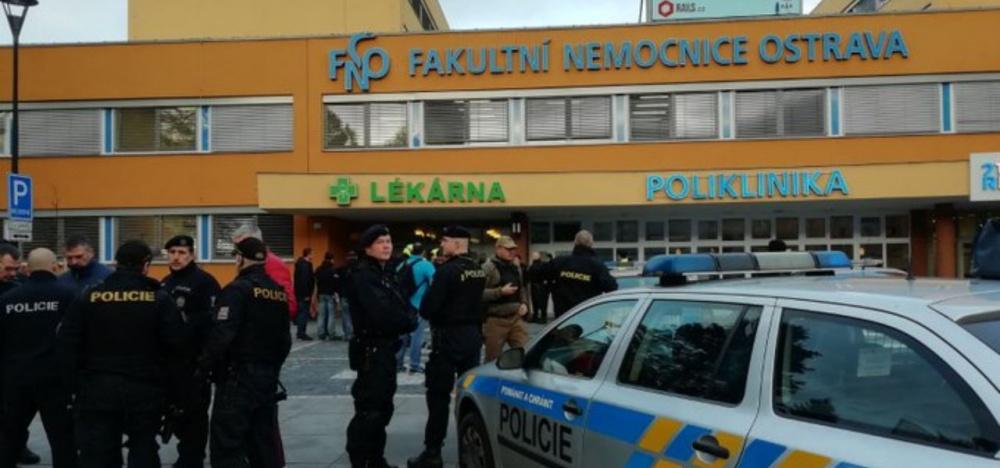 Repubblica Ceca, sparatoria all'ospedale di Ostrava (Twitter Polizia)