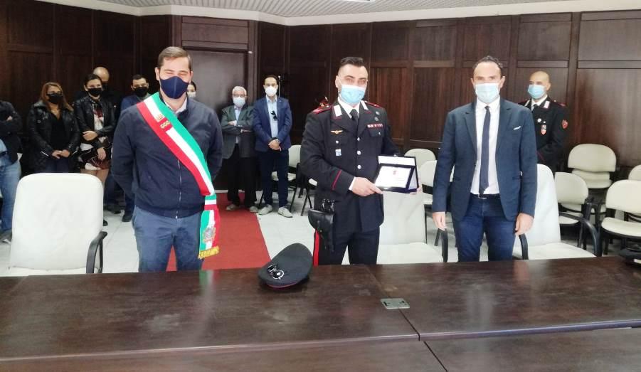 L'Appuntato Damiano Muffaldi riceve la Targa