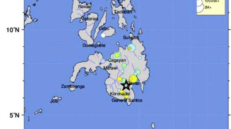 immagine filippine forte scossa di terremoto