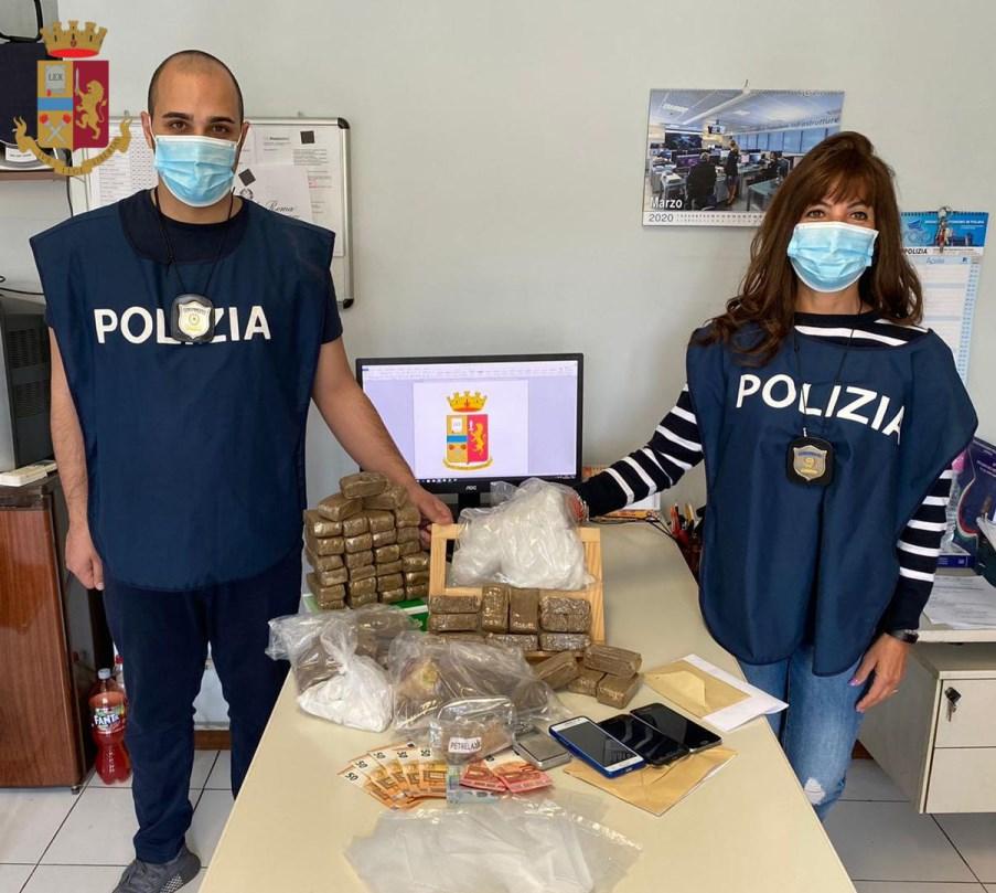 sequestro di droga a roma