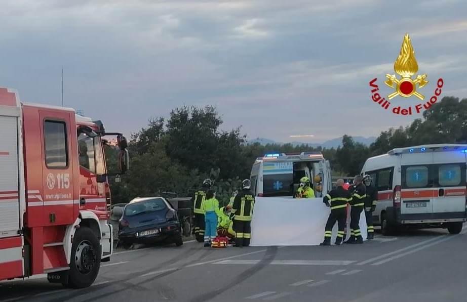 immagine incidente stradale a ussana