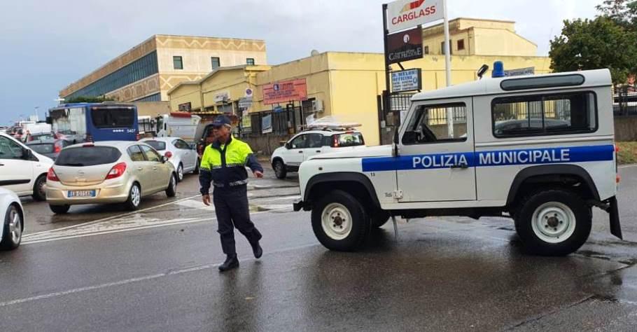 immagine traffico in via dolcetta a Cagliari